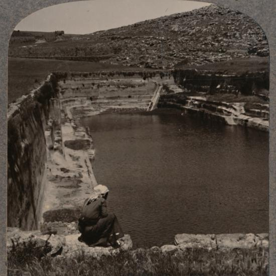 'One of the Pools of Solomon', c1900-Unknown-Photographic Print