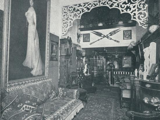 'One of the Reception Rooms at the Sandow Institute',c1898-Unknown-Photographic Print