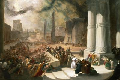 One of the Seven Plagues of Egypt, the Water of the Nile Turned Blood Red, Early 19th Century-John Martin-Giclee Print