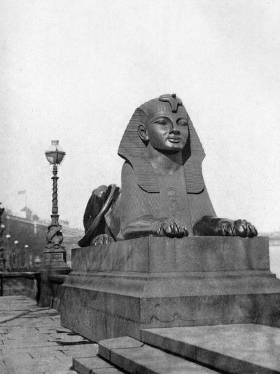 One of the Sphinxes, Victoria Embankment, London, 1924-1926--Giclee Print