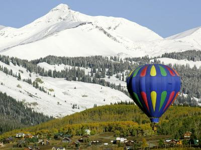 One of the Twelve Hot Air Balloons Takes Flight at Mount Crested Butte, Colorado--Photographic Print