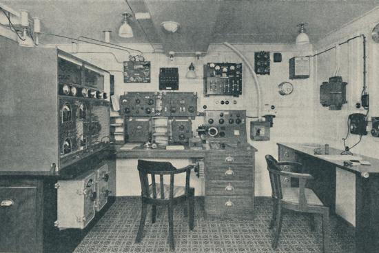 'One of the Wireless Cabins in a modern liner', 1936-Unknown-Photographic Print