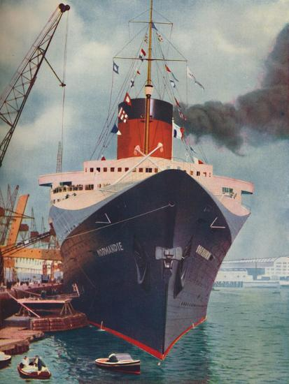 'One of the World's Great Ships. The French liner Normandie', 1937-Unknown-Giclee Print