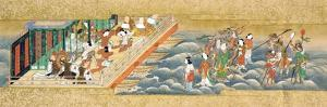 One of Three Miniature Handscrolls Depicting the Story of Taishokkan (The Great Woven Cap)