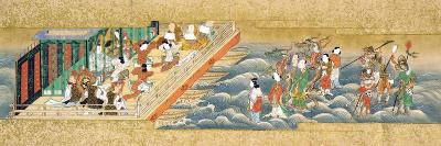 One of Three Miniature Handscrolls Depicting the Story of Taishokkan (The Great Woven Cap)--Giclee Print