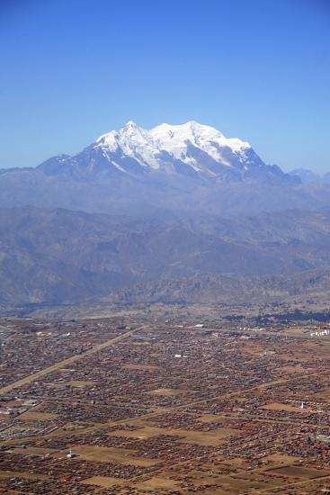 One of World's Highest City, Below the Illimani Mt, El Alto, Bolivia-Anthony Asael-Photographic Print