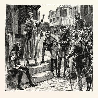 One of Wycliffe's Poor Priests Preaching to the People--Giclee Print