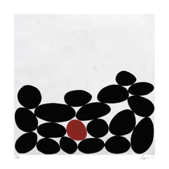 One Red Stone-Yuko Lau-Giclee Print