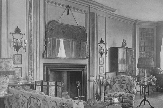 One side of the drawing room, house of Mrs WK Vanderbilt, New York, 1924-Unknown-Photographic Print