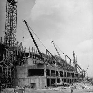 One Side of the War Department While Undergoing Construction