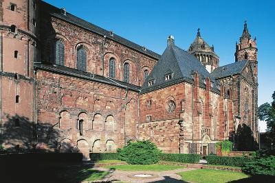 One Side of Worms Cathedral, 11th-13th Century, Gothic Style, Worms, Rhineland-Palatinate, Germany--Photographic Print