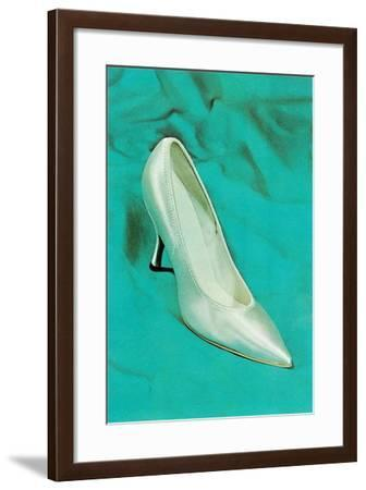 One Silver High-Heeled Shoe--Framed Art Print