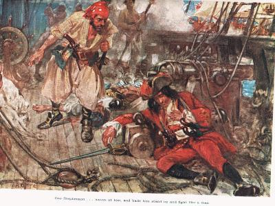 One Stephenson...Bade Him Stand Up and Fight Like a Man, Illustration from -A.D. McClintock-Giclee Print