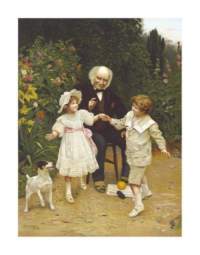 One! Two! Three! Go!-Arthur Elsley-Premium Giclee Print