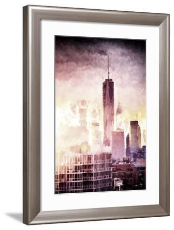 One World Trade Center Cityscape II-Philippe Hugonnard-Framed Giclee Print