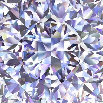 Diamond Geometric Pattern Of Colored Brilliant Triangles by oneo