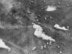 Ongoing Tank Battle Between Russian and German Armor During WWII