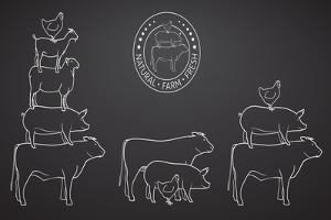 Animals Pyramide, Natural, Farm, Fresh by ONiONAstudio