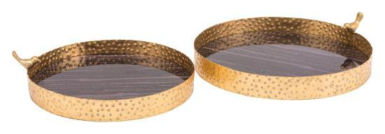 Onix Set of 2 Trays Purple & Antique Go--Home Accessories