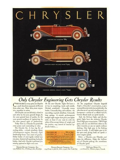 Only Chrysler Engineering…--Art Print