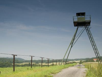 Only Section That Remains of Iron Curtain in Czech Republic, Podyji National Park-Richard Nebesky-Photographic Print