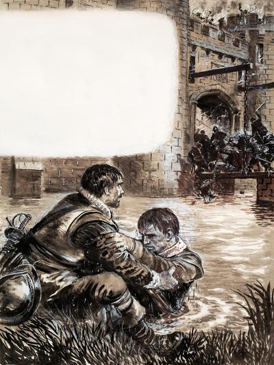 Only Two Survived the Massacre at New Brandenburg-Kenneth John Petts-Giclee Print