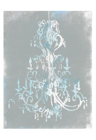 Blue grey chandelier by OnRei