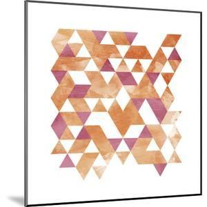 Blush Coral Triangles by OnRei