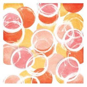 Circular Abstract Blush Orange by OnRei
