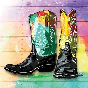 Colorful Boots by OnRei