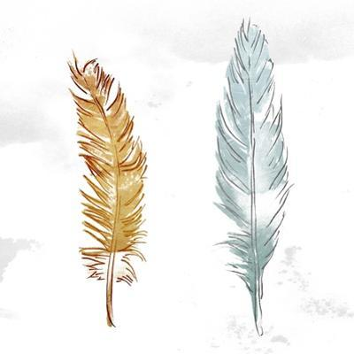 Gold Silver Feather by OnRei