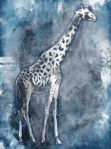 Grey Blue Giraffe by OnRei