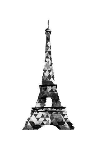 Grey Eiffel Triangles by OnRei