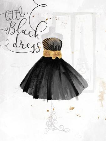 Little Black Gold Dress