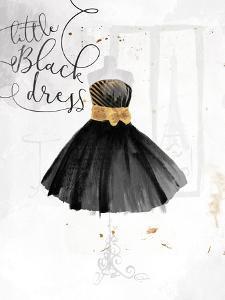 Little Black Gold Dress by OnRei