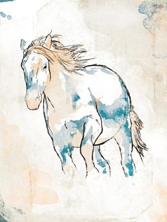 Running Horse Blue by OnRei