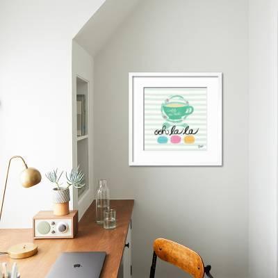 Dnven 20 Inches X 14 Inches Diy Ooh La La Pvc Wall Stickers Ooh La La Paris France Hearts Love Quotes Vinyl Wall Decals Decor Art For Kids Rooms Nursery Amazon Com