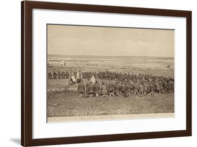 Open Air Church Service before Battle, World War I--Framed Photographic Print