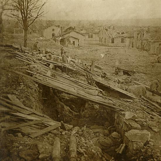 Open-air dormitory at Tavannes Fort, Verdun, northern France, c1914-c1918-Unknown-Photographic Print