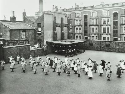 Open Air Exercise Class, Ben Jonson School, Stepney, London, 1911--Photographic Print