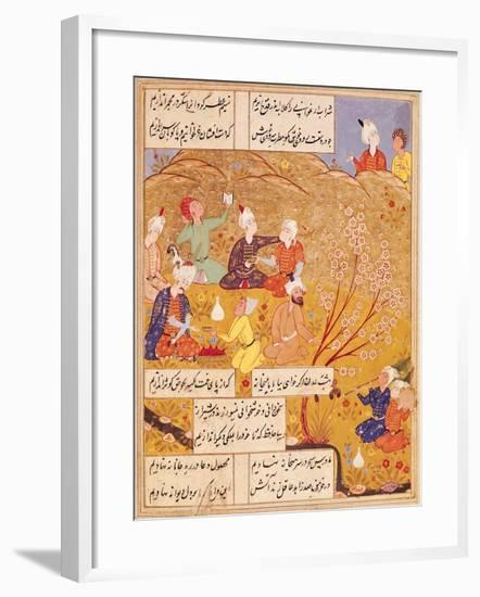 Open-Air Feast, from a Book of Poems, 1554--Framed Giclee Print