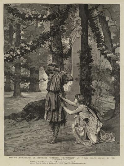 Open-Air Performance of Fletcher's Faithfull Shepherdesse at Coombe House--Giclee Print