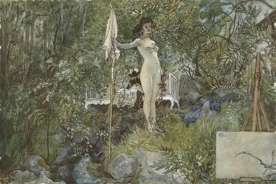 Open-Air Studio, from 'A Home' series, c.1895-Carl Larsson-Giclee Print