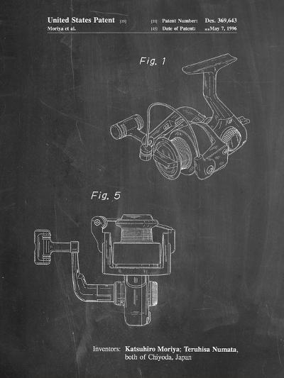 Open Face Spinning Fishing Reel Patent-Cole Borders-Art Print