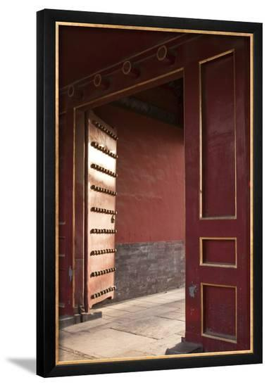 Open Gates at the Forbidden City-Paul Souders-Framed Photographic Print