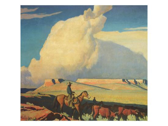 Open Range, 1942-Maynard Dixon-Giclee Print