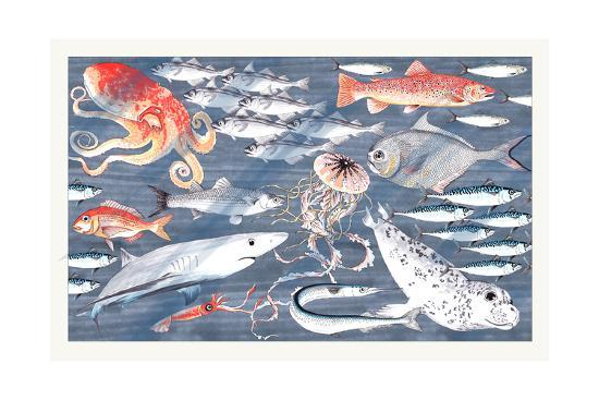 Open Sea-Jacqueline Colley-Giclee Print