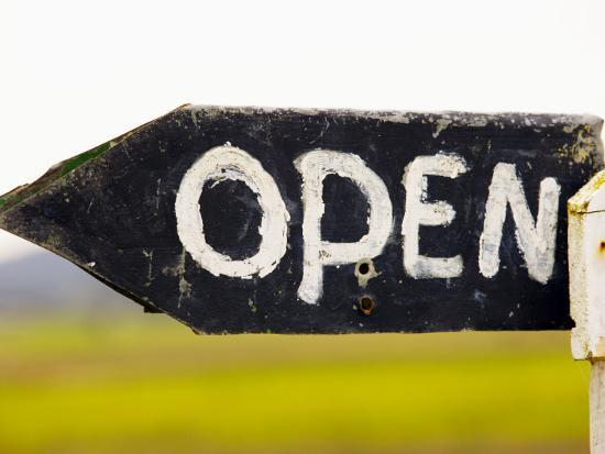 Open Sign Detail-Oliver Strewe-Photographic Print