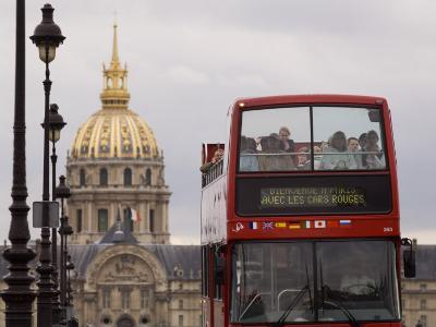 Open Top Tour Bus on Pont Alexandre-Will Salter-Photographic Print