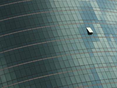 Open Window on the Side of a Modern Glass Building, Asia--Photographic Print